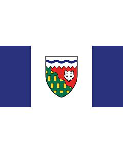 Bandera: Territorios del Noroeste |  bandera paisaje | 0.24m² | 35x70cm
