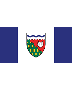 Flag: Northwest Territories |  landscape flag | 6.7m² | 72sqft | 180x360cm | 70x140inch