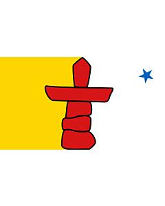 Bandera: Nunavut |  bandera paisaje | 6m² | 200x300cm