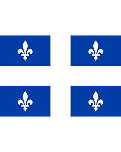 Flag: Quebec |  landscape flag | 0.24m² | 2.5sqft | 40x60cm | 1.3x2foot