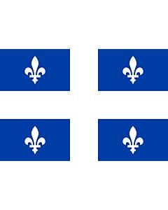 Bandera: Quebec |  bandera paisaje | 0.24m² | 40x60cm