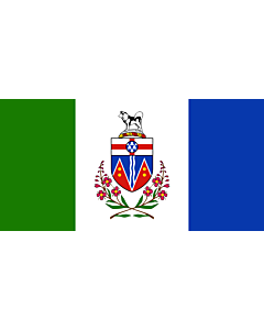 Bandera: YukonTerritory |  bandera paisaje | 0.24m² | 35x70cm