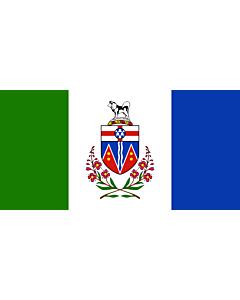 Bandera: YukonTerritory |  bandera paisaje | 6.7m² | 180x360cm