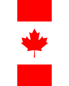 Vertical Hanging Beam Flag: Canada |  portrait flag | 3.5m² | 38sqft | 300x120cm | 10x4ft