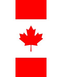 Bandera: Bandera vertical con manga cerrada para potencia Canadá |  bandera vertical | 3.5m² | 300x120cm