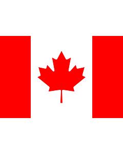 Bandera: Canadá |  bandera paisaje | 0.375m² | 50x75cm