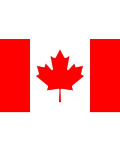 Bandera: Canadá |  bandera paisaje | 1.35m² | 90x150cm