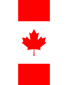 Flag: Canada |  portrait flag | 6m² | 64sqft | 400x150cm | 13x5ft