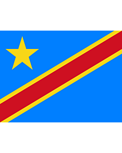 Flag: Congo, the Democratic Republic |  landscape flag | 0.375m² | 4sqft | 50x75cm | 1.5x2.5ft