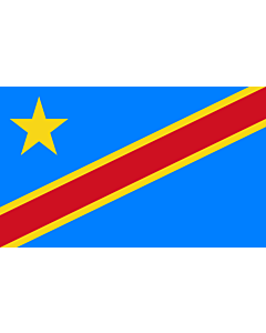 Indoor-Flag: Congo, the Democratic Republic 90x150cm