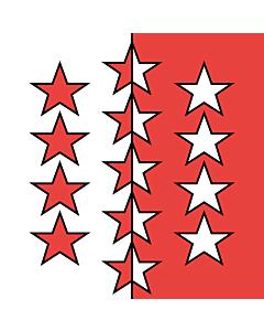 Flag: Valais |  0.24m² | 2.5sqft | 50x50cm | 20x20inch