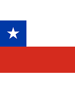 Flag: Chile |  landscape flag | 0.7m² | 7.5sqft | 70x100cm | 2x3ft