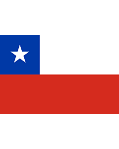 Flag: Chile |  landscape flag | 0.96m² | 10sqft | 80x120cm | 2.5x4ft