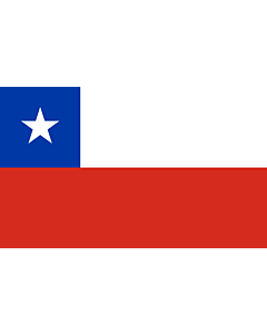 Flag: Chile |  landscape flag | 1.35m² | 14.5sqft | 90x150cm | 3x5ft