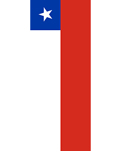 Vertical Hanging Beam Flag: Chile |  portrait flag | 3.5m² | 38sqft | 300x120cm | 10x4ft