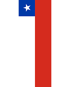Vertical Hanging Beam Flag: Chile |  portrait flag | 6m² | 64sqft | 400x150cm | 13x5ft