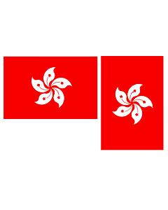 Flag: HKSAR hv  landscape flag | 0.06qm | 0.65sqft | 20x30cm | 8x12in