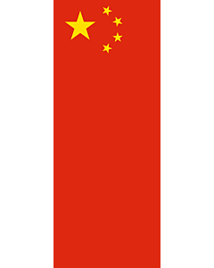 Bandera: Bandera vertical con manga cerrada para potencia China |  bandera vertical | 3.5m² | 300x120cm