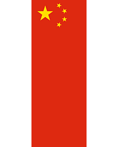 Bandera: Bandera vertical con manga cerrada para potencia China |  bandera vertical | 6m² | 400x150cm