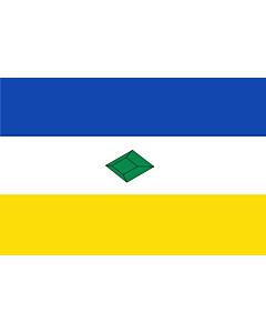 Bandera: Municipio de Muzo en Boyacá Colombia segun descripción de la página oficial |  bandera paisaje | 0.06m² | 20x30cm