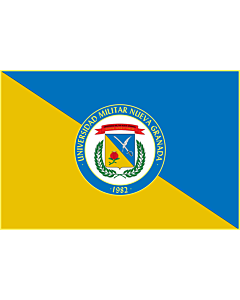 Flag: Universidad Militar Nueva Granada |  landscape flag | 2.16m² | 23sqft | 120x180cm | 4x6ft