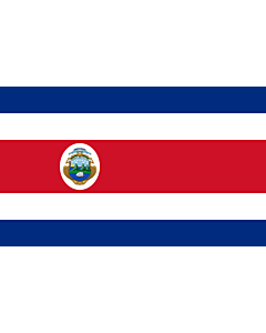 Bandera de Interior para protocolo: Costa Rica 90x150cm