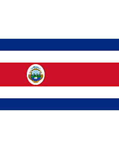 Flag: Costa Rica |  landscape flag | 6.7m² | 72sqft | 200x335cm | 6x11ft