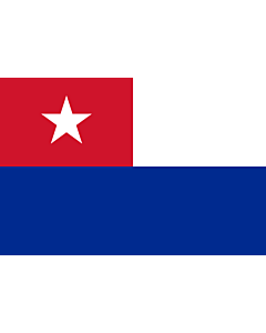 Flag: Naval Jack of Cuba |  landscape flag | 1.35m² | 14.5sqft | 90x150cm | 3x5ft