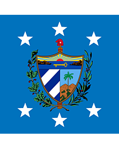 Flag: President of Cuba |  1.35m² | 14.5sqft | 120x120cm | 45x45inch