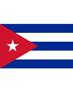 Bandera de Interior para protocolo: Cuba 90x150cm