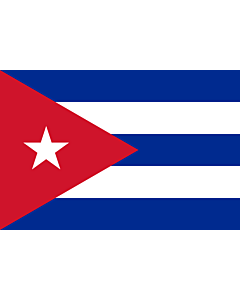 Flag: Cuba |  landscape flag | 0.375m² | 4sqft | 50x75cm | 1.5x2.5ft