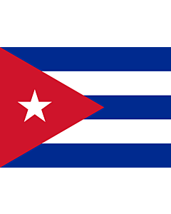 Flag: Cuba |  landscape flag | 0.7m² | 7.5sqft | 70x100cm | 2x3ft