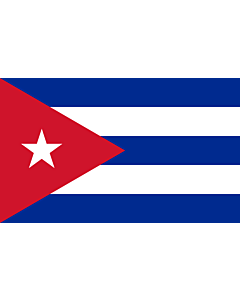 Flag: Cuba |  landscape flag | 1.35m² | 14.5sqft | 90x150cm | 3x5ft