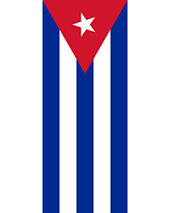 Vertical Hanging Beam Flag: Cuba |  portrait flag | 3.5m² | 38sqft | 300x120cm | 10x4ft