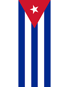 Vertical Hanging Swivel Crossbar Banner Flag: Cuba |  portrait flag | 6m² | 64sqft | 400x150cm | 13x5ft