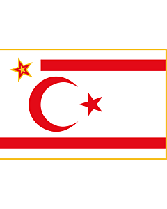 Flag: President of the Turkish Republic of Northern Cyprus |  landscape flag | 1.35m² | 14.5sqft | 90x150cm | 3x5ft