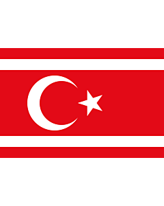 Flag: Reported flag of the Turkish Republic of Northern Cyprus from 1983 to 1984 |  landscape flag | 2.16m² | 23sqft | 120x180cm | 4x6ft