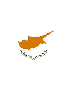 Table-Flag / Desk-Flag: Cyprus 15x25cm