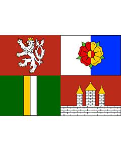 Flag: South Bohemian Region |  landscape flag | 6.7m² | 72sqft | 200x335cm | 6x11ft