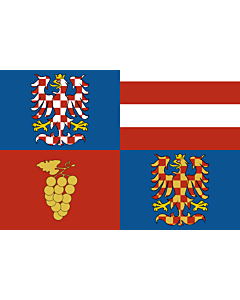 Flag: South Moravian Region |  landscape flag | 6.7m² | 72sqft | 200x335cm | 6x11ft