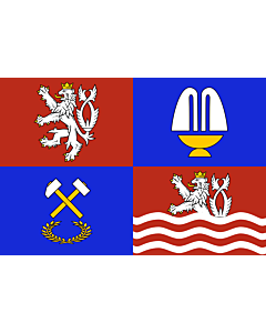 Flag: Karlovy Vary Region |  landscape flag | 0.24m² | 2.5sqft | 40x60cm | 1.3x2foot