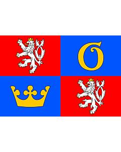 Flag: Hradec Králové Region |  landscape flag | 6.7m² | 72sqft | 200x335cm | 6x11ft