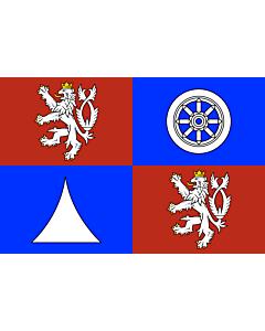 Flag: Liberec Region |  landscape flag | 0.24m² | 2.5sqft | 40x60cm | 1.3x2foot