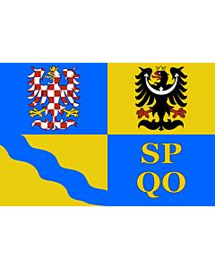 Flag: Olomouc Region |  landscape flag | 0.24m² | 2.5sqft | 40x60cm | 1.3x2foot