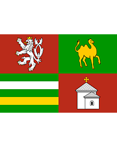 Flag: Plzeň Region |  landscape flag | 0.24m² | 2.5sqft | 40x60cm | 1.3x2foot