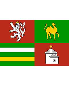 Flag: Plzeň Region |  landscape flag | 6.7m² | 72sqft | 200x335cm | 6x11ft