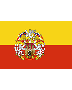 Flag: Prague |  landscape flag | 0.24m² | 2.5sqft | 40x60cm | 1.3x2foot