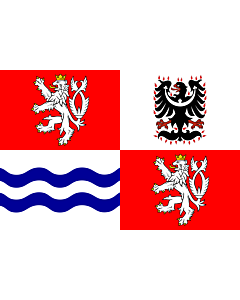 Flag: Central Bohemian Region |  landscape flag | 6m² | 64sqft | 200x300cm | 6x10ft