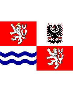 Flag: Central Bohemian Region |  landscape flag | 6.7m² | 72sqft | 200x335cm | 6x11ft