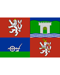 Flag: Ústí nad Labem Region |  landscape flag | 0.24m² | 2.5sqft | 40x60cm | 1.3x2foot